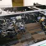 日野の天然ガストラック「CNG-MPI」の構造展示(2)