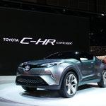 トヨタのコンパクトクロスオーバーハイブリッドカー「C-HR Concept」