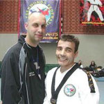 Patrizio Milia und Co. Trainer Dr. Juan Ramon Herguijuela Alberan