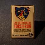 Volkswagen Law Enforcement Torch Run Special Olympics Northern California 2001 Pin - Drivers Wanted