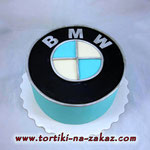 БМВ логотип Шоколадный бисквит, трюфельный крем, орешки, чернослив. Мастика 2,7кг
