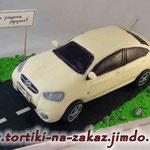 Hyundai Solaris Медовик со сметанным кремом. Мастика. 3,7кг