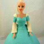 Барби в голубом 3 Шоколадный бисквит, шарлот, грецкие орехи. Мастика  2,5кг