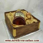 Коробка с коньяком Торт пломбир. Мастика 3,8кг