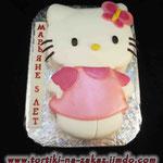 Hello Kitty 2D  Медовик со сметанным кремом. Мастика 3,2кг