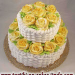 Желтые розы, признак любви! Сникерс с арахисом. Торт пломбир. Белковый крем. 4,5кг