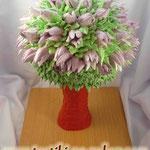 Букет тюльпанов Шоколадный бисквит, суфле птичье молоко, фрукты. Белковый крем 3кг