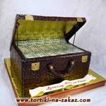 Кейс с деньгами  Медовый бисквит, сметано-заварной крем. Мастика 4,2кг