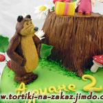 Маша и медведь: Время подарков Песочно-ореховый торт. Мастика 4кг