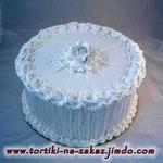 Белые узоры Киевский торт с фундуком и миндалем. Белковый крем 3кг