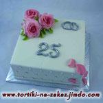 Серебряная свадьба: лепестки роз Медовый бисквит, безе, сливочно-заварной крем. Мастика 2,6кг