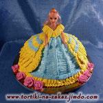 Барби в реверансе Медовый бисквит, сметанный крем, вишня. Белковый крем. 2,5кг
