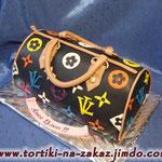 Черная сумочка Сникерс с арахисом. Мастика. 3,2кг