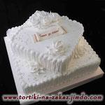 Свадебный: Совет да любовь Шоколадный и ванильный бисквиты, йогуртовый крем, фрукты, шоколадная крошка. Белковый крем. 5,5кг