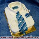 Рубашка для босса Ванильные коржи, сливочно-ванильный крем. Мастика. 3кг