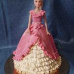 Барби в розовом 3 Торт пломбир. Отделка – мастика.