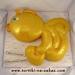 Золотая рыбка Шоколадно-банановый торт. Мастика 4,3кг