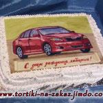 Toyota Corolla Шоколадный бисквит, трюфельный крем, вишня, грецкие орехи. Отделка – мастика, белковый крем
