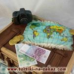 Чемодан путешественника Песочный с разными добавками. Мастика 4,3кг