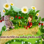 Лунтик: земляничная полянка Сметанник с фруктами. Мастика