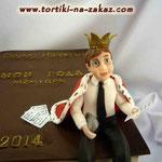 Царские мемуары Шоколадный бисквит, безе, крем Шарлотт, грецкие орешки. Мастика 4,4кг
