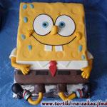 Спанч Боб (мастика) Торт-пломбир. Отделка – мастика. Вес 3,1кг