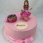 Принцесса и шкатулка Ванильный бисквит, птичье молоко, персики. Мастика 3кг