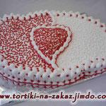 Слияние сердец 2 Торт-пломбир. Белковый крем. 3кг