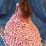 Барби в розовом со шлейфом Ванильный бисквит, сливочно-заварной крем, орехи в карамели. Белковый крем, 2,5кг