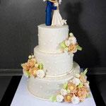 Можете поцеловать невесту! Пиковая дама. Шоколадный бисквит, коньячная пропитка, трюфельный крем, чернослив, орехи в карамели. Песочный с разными добавками. Мастика 11,5кг
