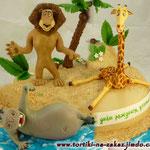Мадагаскар: На пустынном пляже Банановый бисквит, сметанный крем, бананы, орешки. Мастика