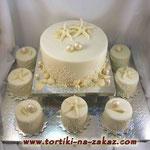 Свадебный: Две звезды и набор капкейков Медовые коржи, сметано-заварной крем Мастика 3кг + капкейки