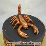 Скорпион Медовые коржи, сметано-заварной крем. Мастика 3кг
