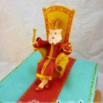 Царь, просто царь! Медовый бисквит, сметанный крем, вишня. Мастика 3,5кг