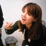 これ以上の幸せは無い!という程の顔でてっさをほうばる@uo__chanさん