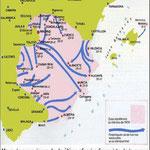 Mapa d'operacions de la darrera ofensiva franquista