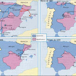 Comparativa de 4 mapes de la guerra civil