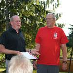 Ernennung Siggi Dietrich zum Ehrenmitglied beim Sommerfest 2013