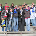CL Viertelfinale 2012 -Gruppenfoto mit Steffi Jones in Malmö