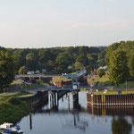 Blick auf den Dömitzer Hafen