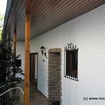nach der Holzaufarbeitung und Fassadenbeschichtung