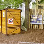 Nashornanlage im Frankfurter Zoo