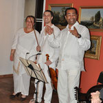 Alain Ihab et Marybel, création de Ziaâd au Musée de La Castre, Cannes, 18/05/13