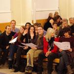 Le public du Temple de l'Eglise Reformée de Cannes. Concert autour des Femmes - 13 février 2012