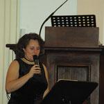 Marybel Dessagnes, présentant le concert autour des Femmes - 13 février 2012