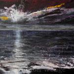 Sonnenuntergang (5) - Acryl auf Leinwand - 70x100 cm - 2016