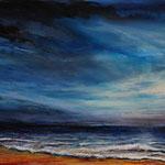 Himmel über dem Meer (4) - Acryl auf Leinwand - 40x50 cm - 2017