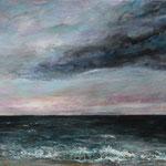 Blick aufs Meer (3) - Acryl auf Leinwand - 40x50 cm - 2015 (reserviert)