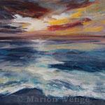 Sonnenuntergang (2) - Acryl auf Leinwand - 40x50 cm - 2014 (in Privatbesitz)