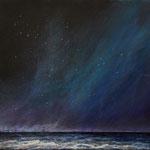 Meer bei Nacht - Acryl auf Leinwand - 40x50 cm - 2014/2017
